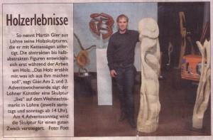 Lohner Zeitung vom 27.11.2009